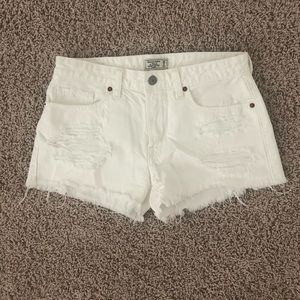 Abercrombie & Fitch White Low Rise Shorts